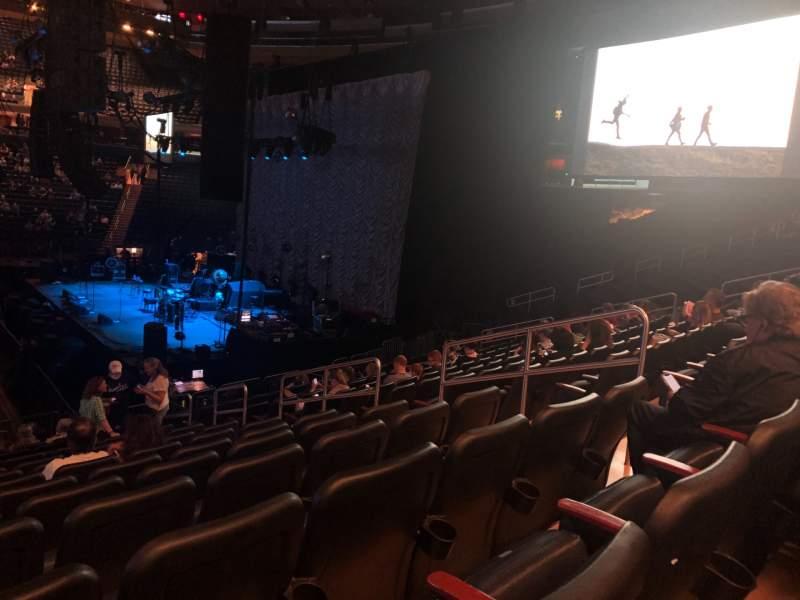 Vista sentada para Madison Square Garden Secção 108 Fila 16 Lugar 15