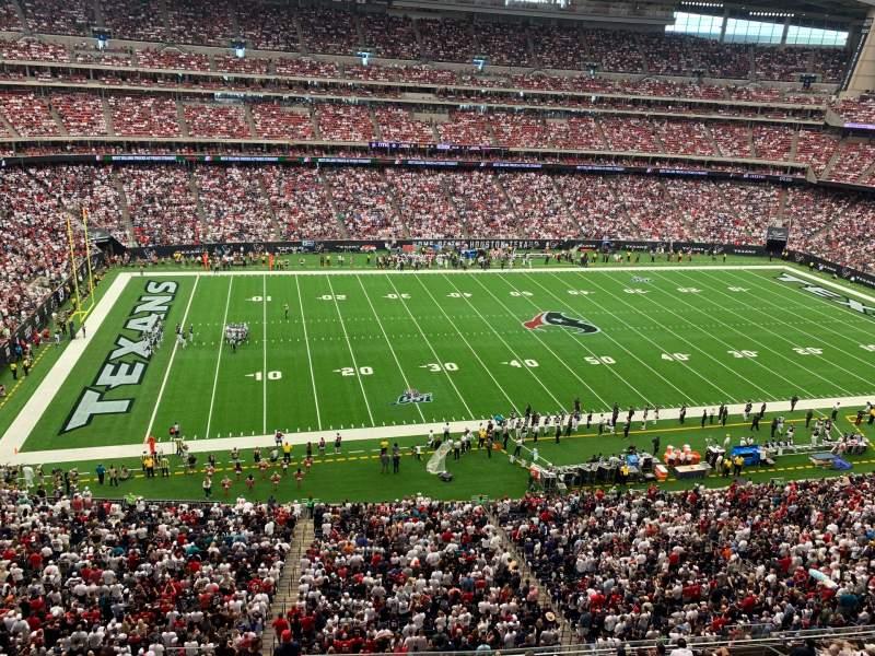 Vista sentada para NRG Stadium Secção 537 Fila G Lugar 4