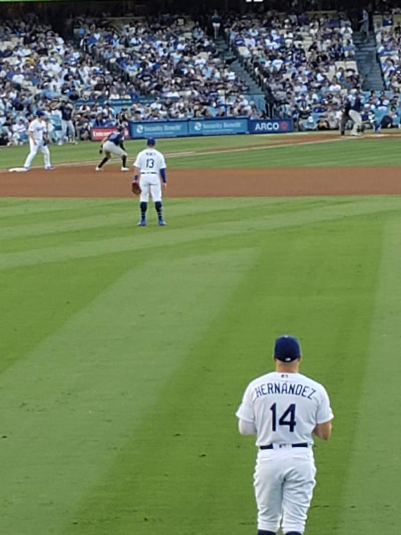 Vista sentada para Dodger Stadium Secção 308PL Fila A Lugar 12