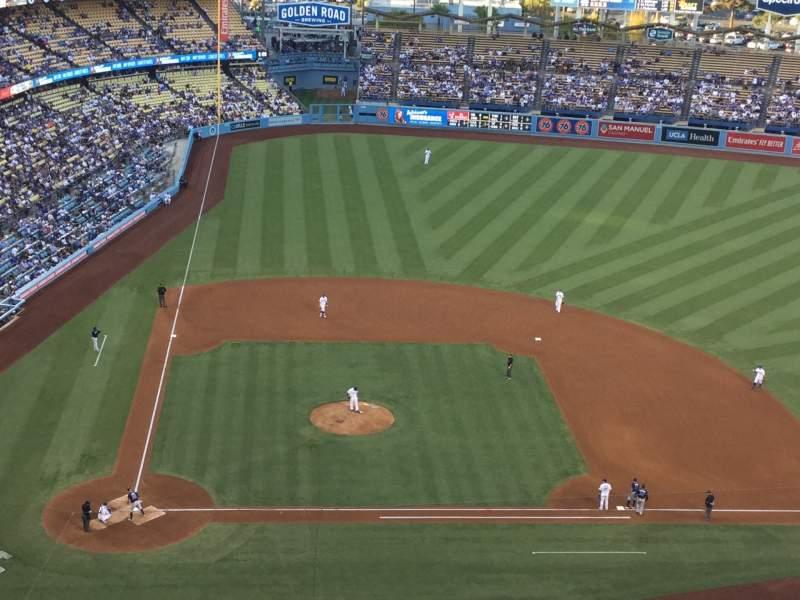 Vista sentada para Dodger Stadium Secção 10TD Fila J Lugar 18