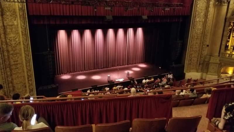 Vista sentada para Chicago Theatre Secção Balcony2L Fila D Lugar 209