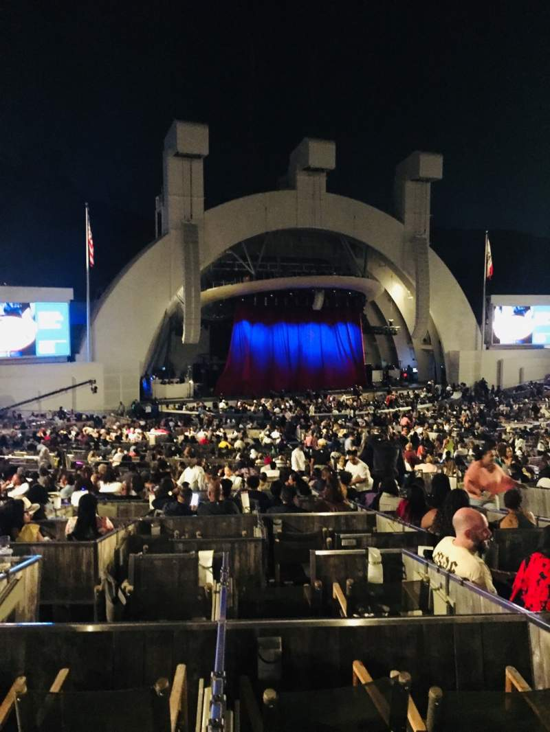 Vista sentada para Hollywood Bowl Secção Terrace Box 1863 Lugar Box 4