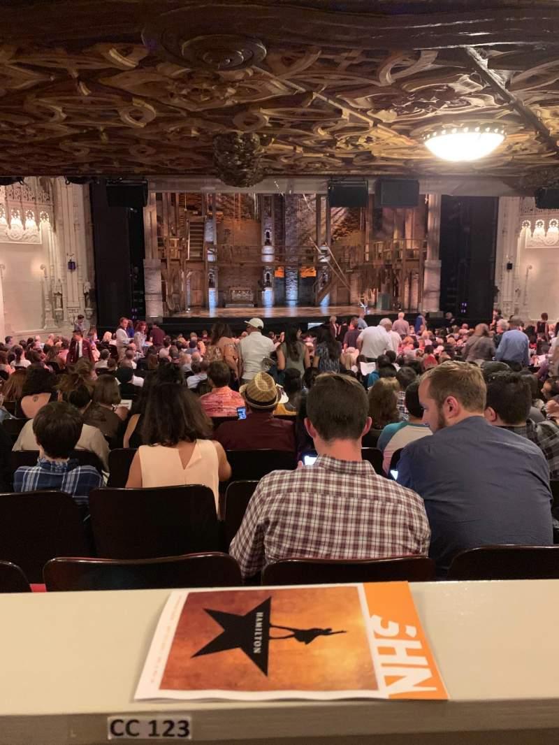 Vista sentada para Orpheum Theatre (San Francisco) Secção Orchestra LC Fila CC Lugar 123