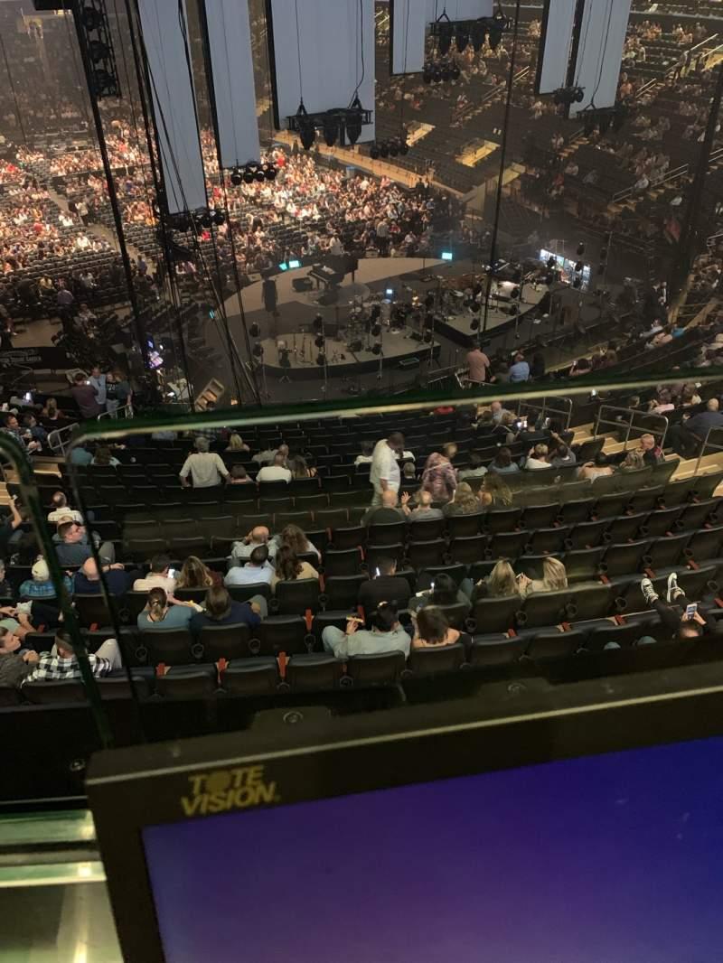Vista sentada para Madison Square Garden Secção 216 Fila 1 Lugar 14