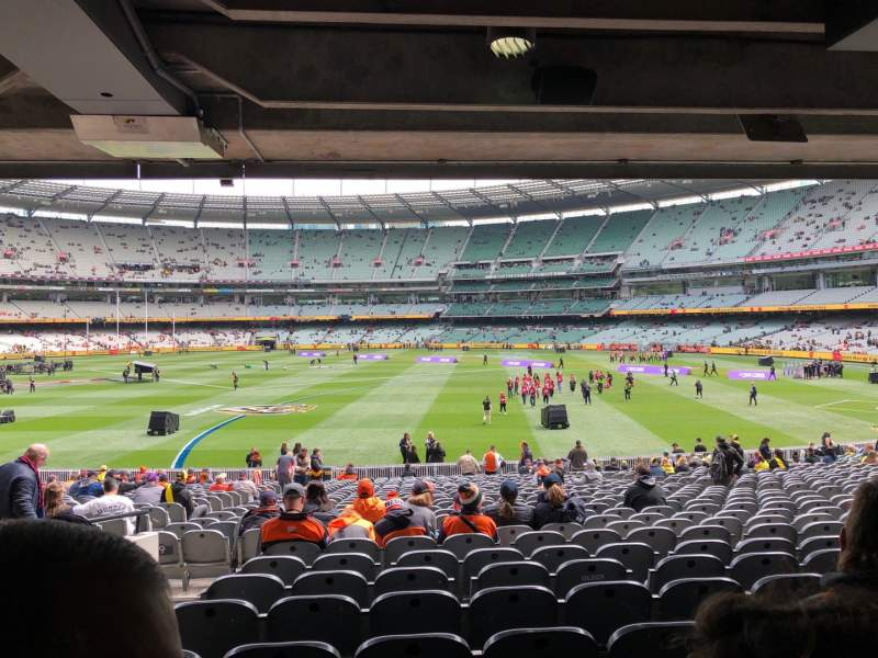 Vista sentada para Melbourne Cricket Ground Secção M9 Fila HH Lugar 15