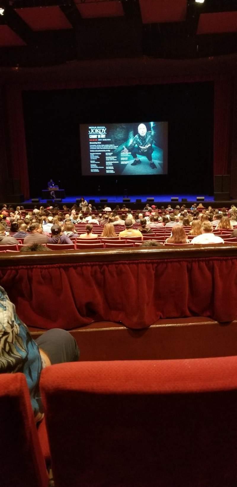 Vista sentada para San Diego Civic Theatre Secção Dress circle Fila B Lugar 14