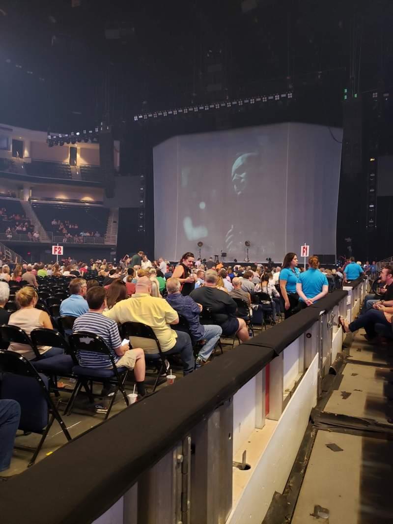 Vista sentada para Infinite Energy Arena Secção 105 Fila A Lugar 13