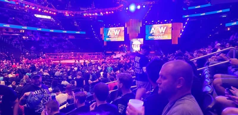 Vista sentada para Capital One Arena Secção 109 Fila H Lugar 4