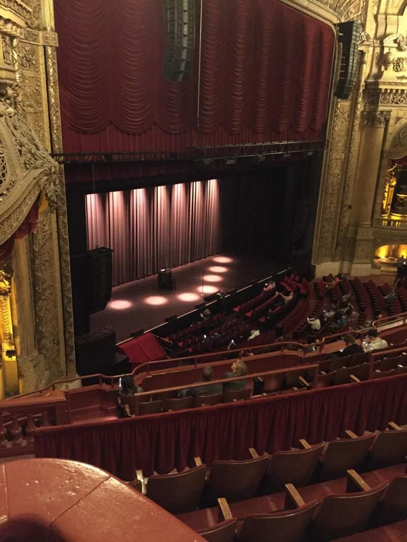Vista sentada para Chicago Theatre Secção Balcony Box 3 Fila A Lugar 23-25