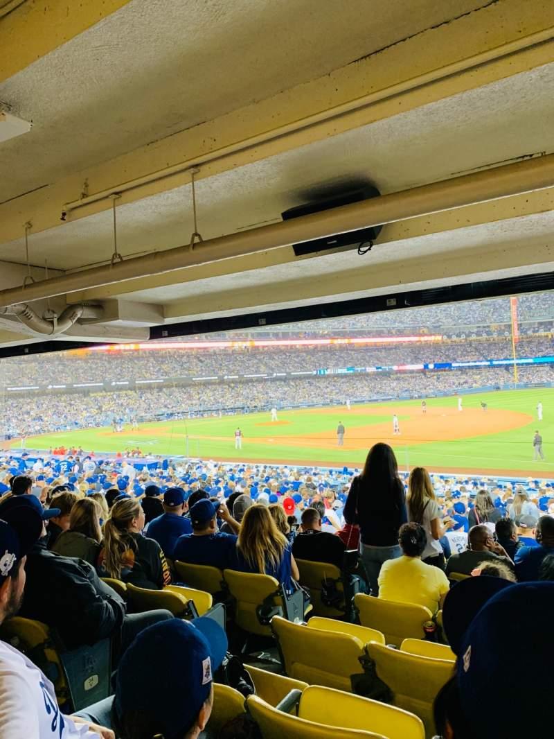 Vista sentada para Dodger Stadium Secção 36FD Fila X Lugar 6