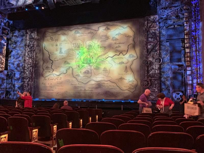 Vista sentada para Saenger Theatre (New Orleans) Secção Orch Right Fila M Lugar 6