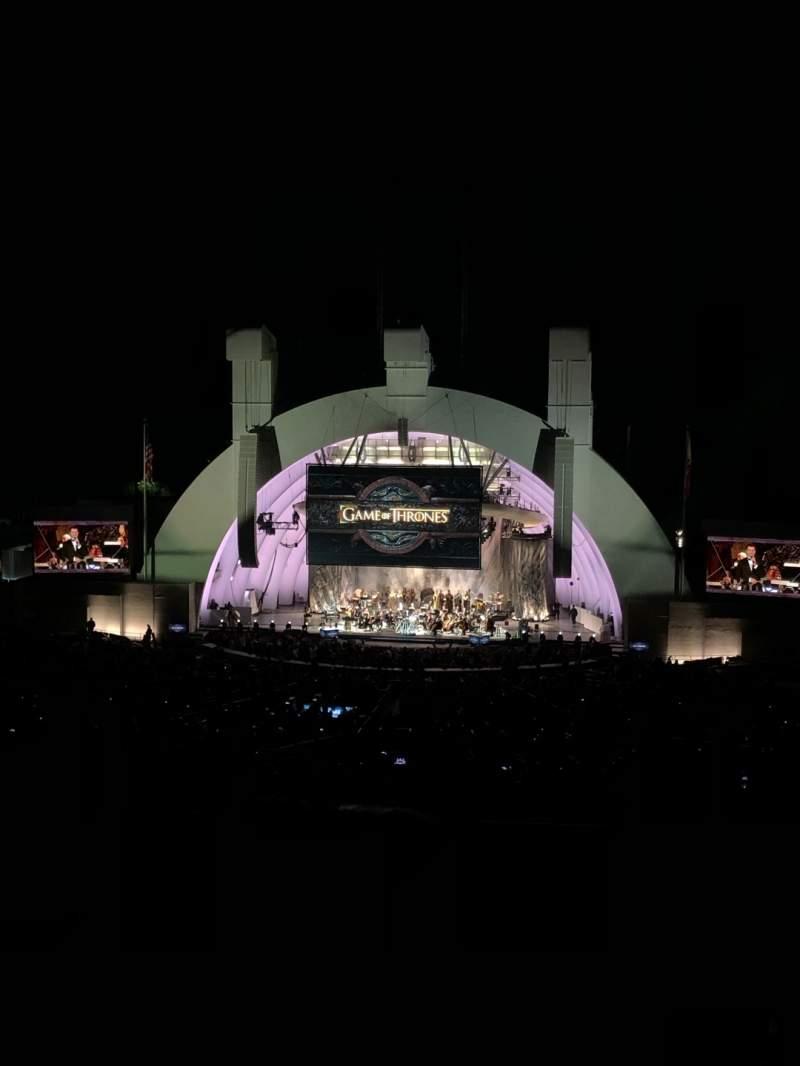 Vista sentada para Hollywood Bowl Secção M2 Fila 3 Lugar 106
