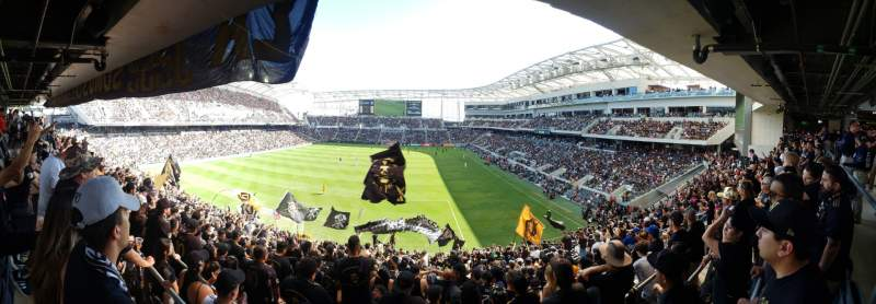 Vista sentada para Banc of California Stadium Secção Ga