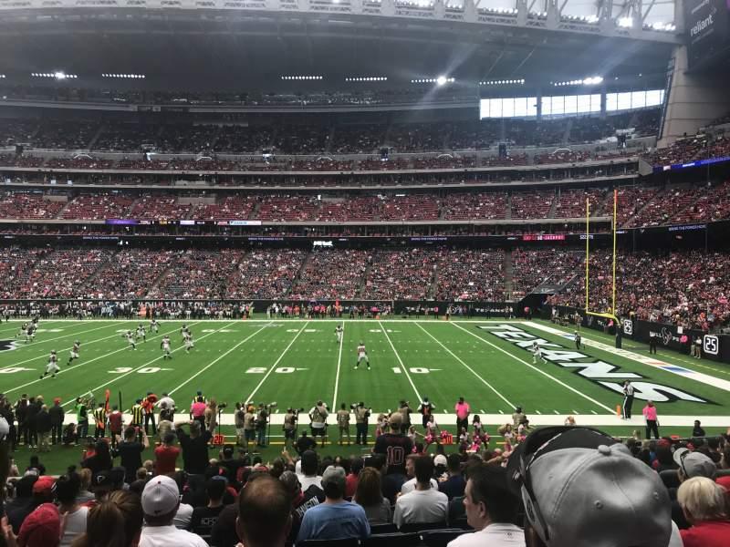 Vista sentada para NRG Stadium Secção 124 Fila U Lugar 5