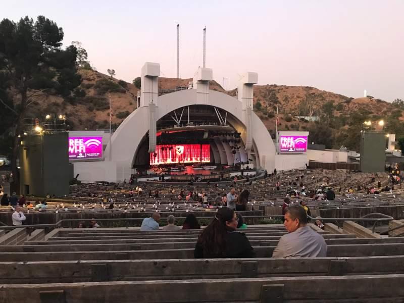 Vista sentada para Hollywood Bowl Secção K1 Fila 11 Lugar 18