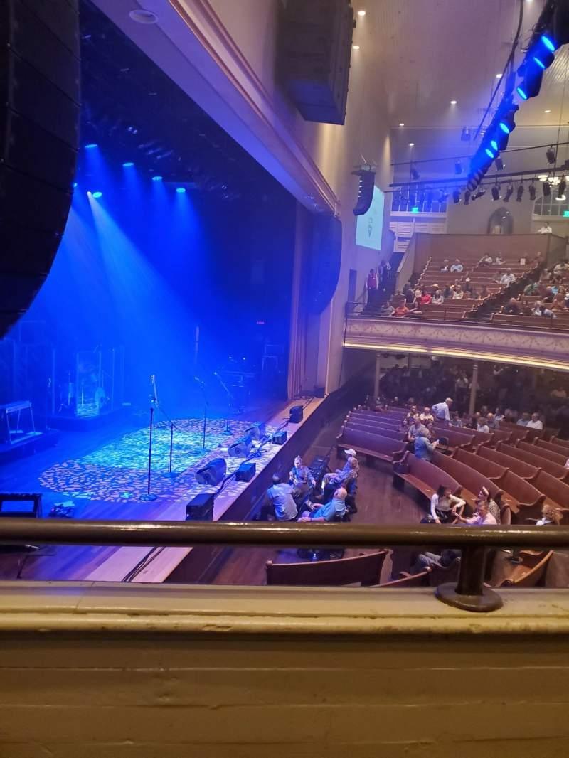 Vista sentada para Ryman Auditorium Secção Bal-16 Fila A Lugar 5