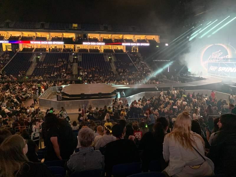 Vista sentada para Mercedes-Benz Arena (Berlin) Secção 207 Fila 14 Lugar 3