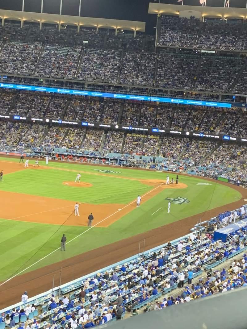 Vista sentada para Dodger Stadium Secção 47RS Fila A Lugar 6