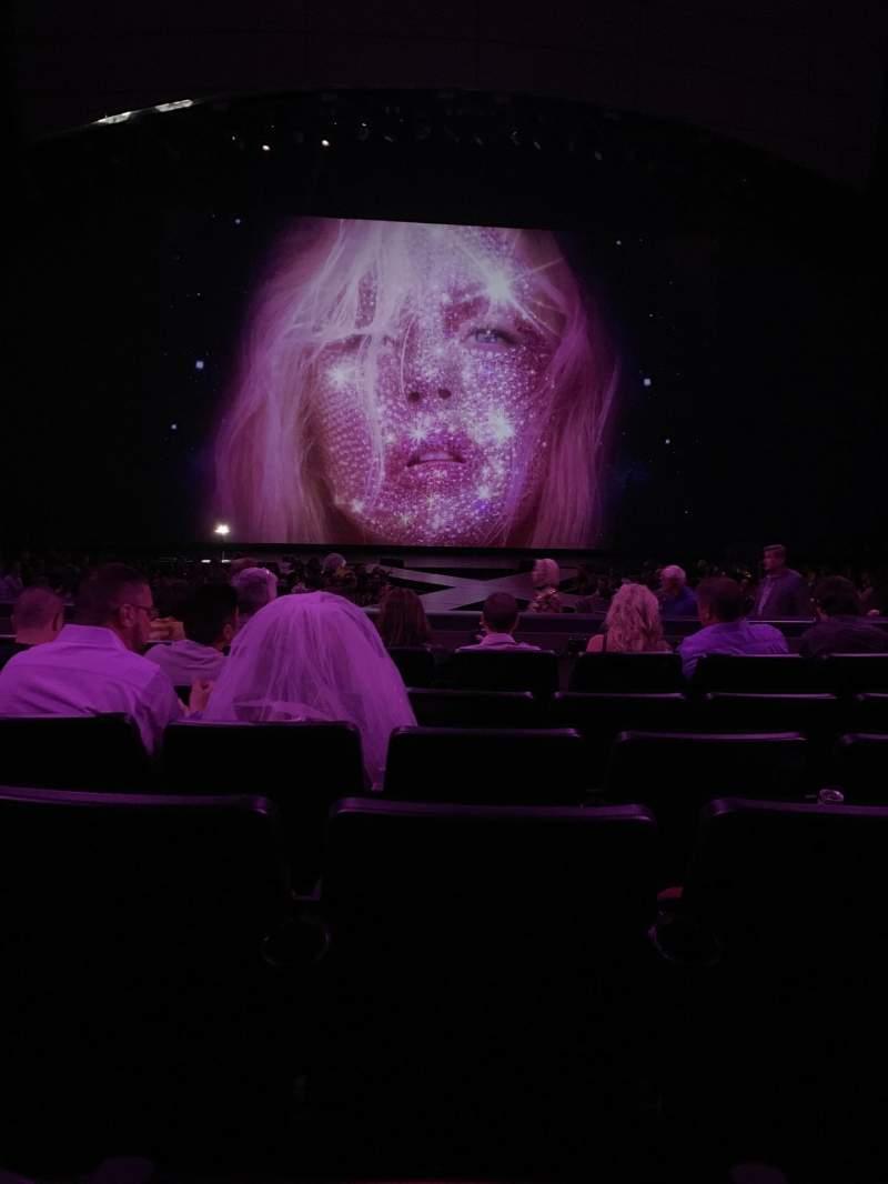 Vista sentada para Zappos Theater Secção 103 Fila F Lugar 21