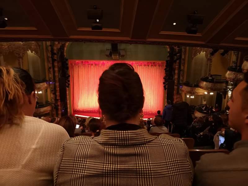 Vista sentada para New Amsterdam Theatre Secção Mezzanine C Fila NN Lugar 102