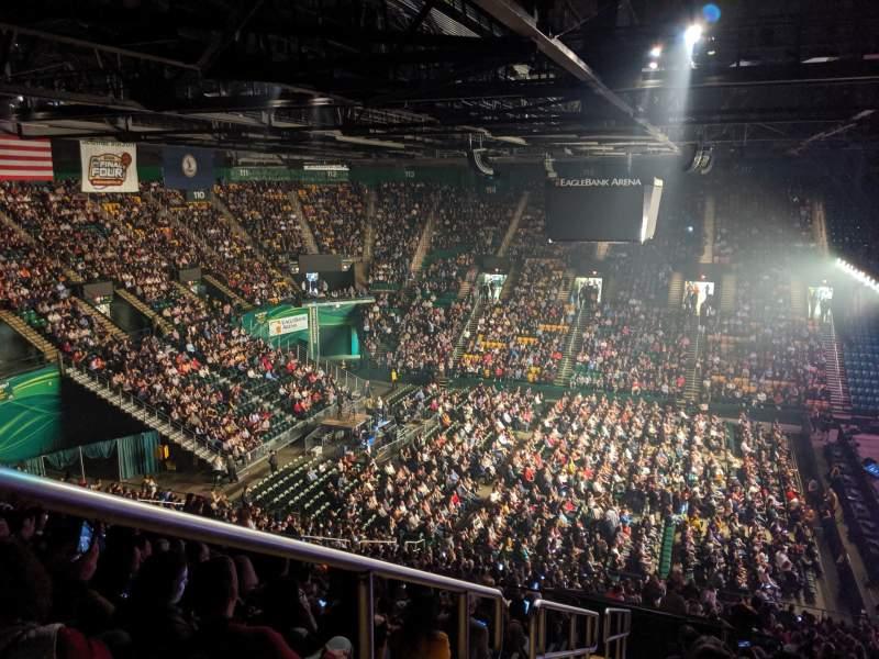 Vista sentada para EagleBank Arena Secção 130