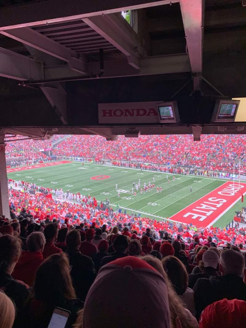 Vista sentada para Ohio Stadium Secção 12B Fila 14 Lugar 3