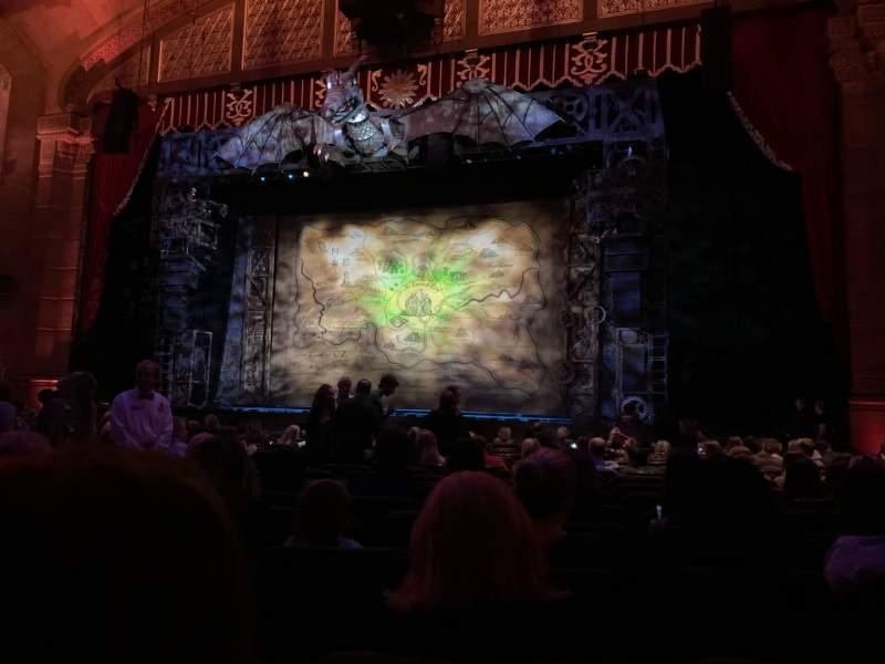 Vista sentada para Fox Theatre (Atlanta) Secção Orchestra RC Fila R Lugar 62