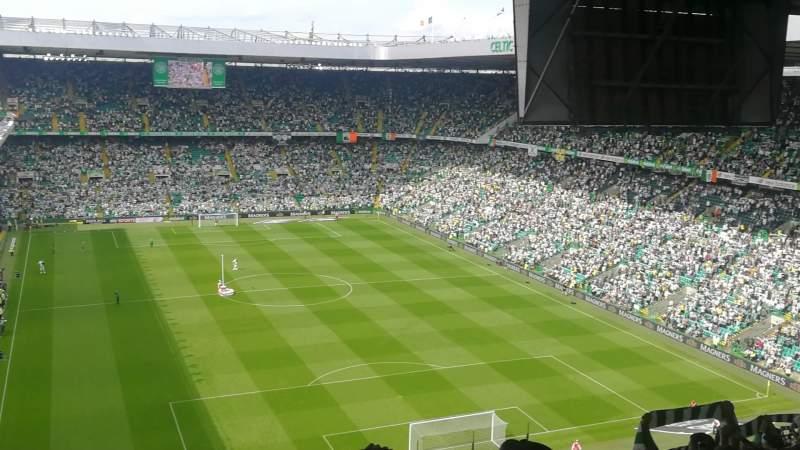 Vista sentada para Celtic Park Secção 418 Fila y Lugar 22