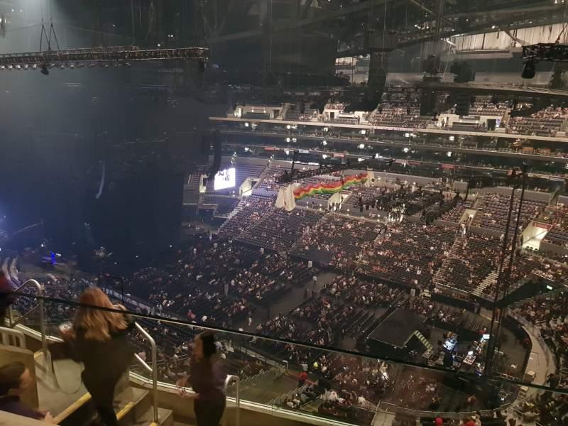 Vista sentada para Staples Center Secção 315 Fila 6 Lugar 18