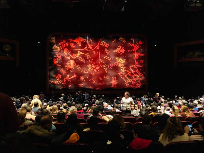 Vista sentada para Minskoff Theatre Secção Orchestra C Fila X Lugar 116