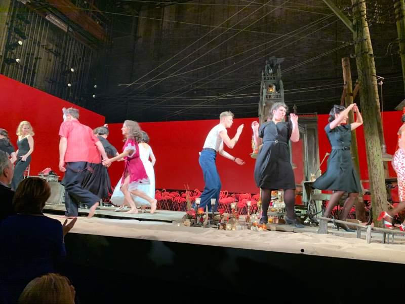 Vista sentada para American Airlines Theatre Secção Orchestra c Fila B Lugar 102