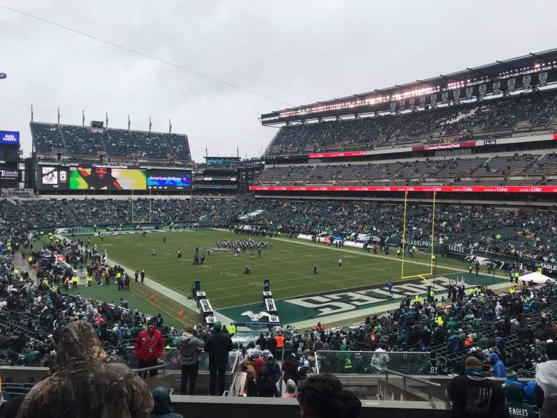 Vista sentada para Lincoln Financial Field Secção 108 Fila 43 Lugar 16
