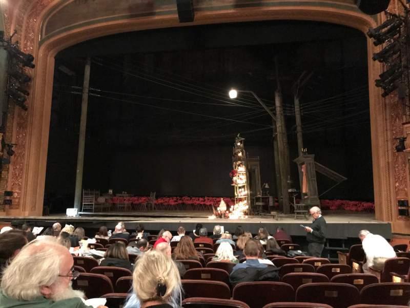 Vista sentada para American Airlines Theatre Secção Orchestra C Fila L Lugar 102