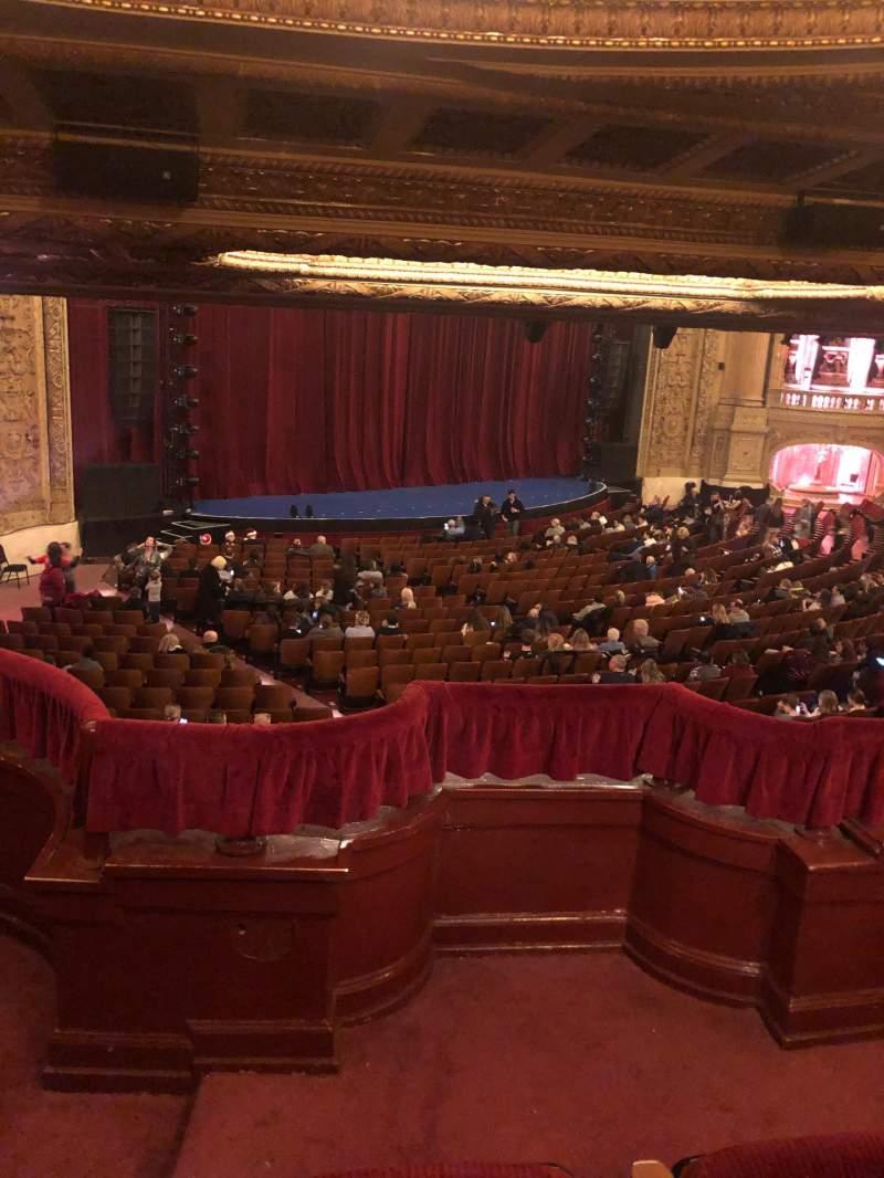 Vista sentada para Chicago Theatre Secção Booth T Lugar 1