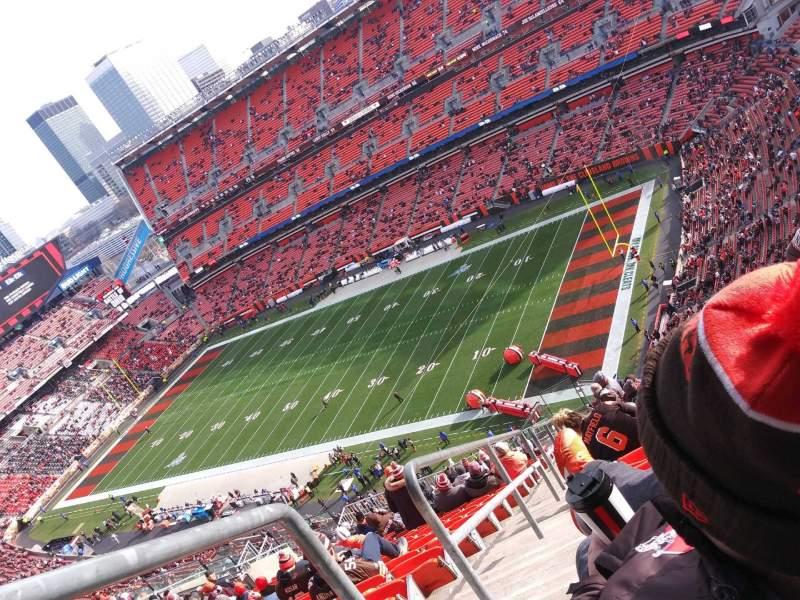 Vista sentada para FirstEnergy Stadium Secção 501 Fila 31 Lugar 4