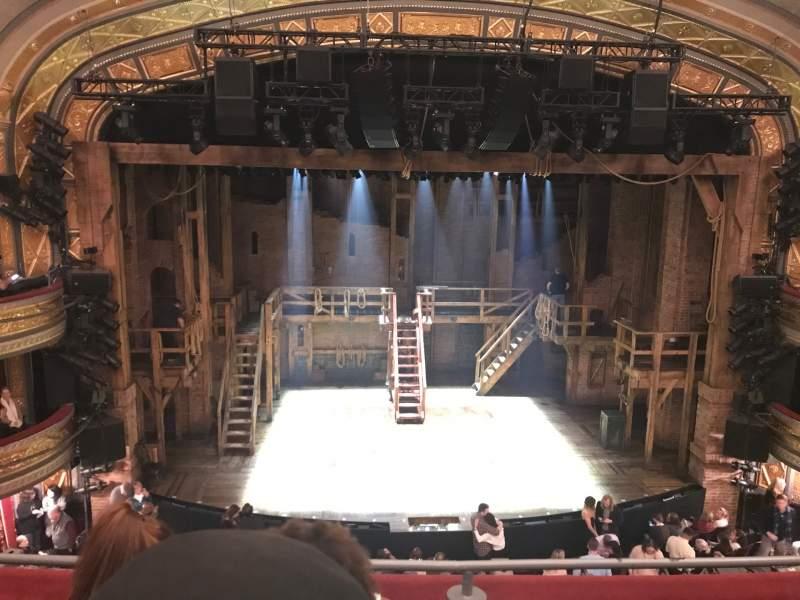 Vista sentada para Richard Rodgers Theatre Secção Front Mezzanine C Fila C Lugar 111