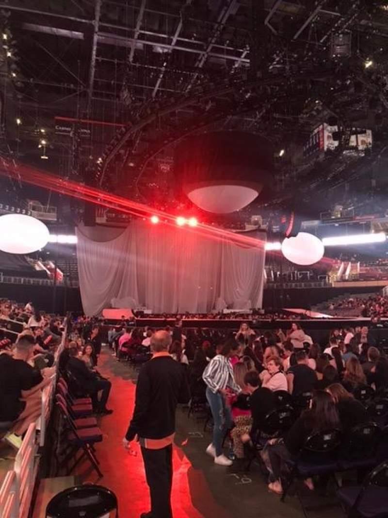 Vista sentada para Talking Stick Resort Arena Secção 111 Fila 2 Lugar 3