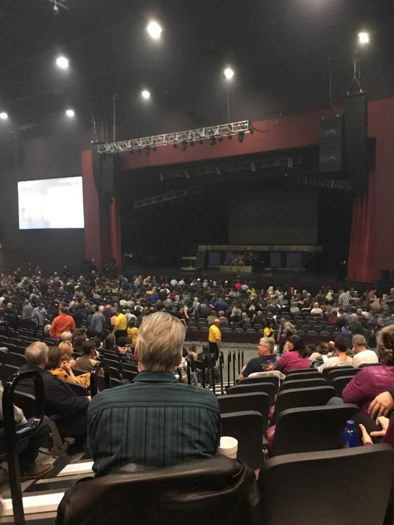 Vista sentada para Choctaw Grand Theater Secção 202 Fila Q Lugar 18