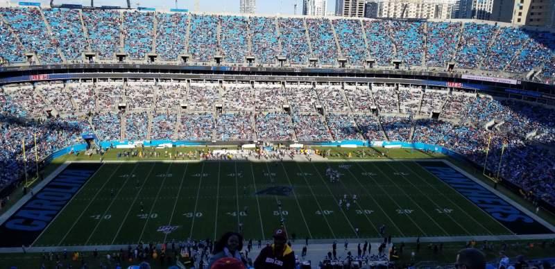 Vista sentada para Bank of America Stadium Secção 543 Fila 22 Lugar 1