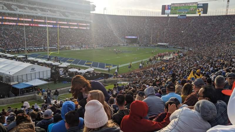 Vista sentada para Los Angeles Memorial Coliseum Secção 127 Fila 39 Lugar 20