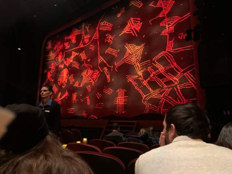 Vista sentada para Minskoff Theatre Secção Orchestra R Fila H Lugar 6