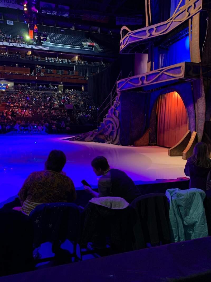 Vista sentada para Nationwide Arena Secção 103 Fila A Lugar 10