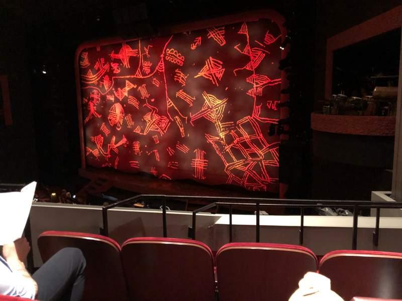 Vista sentada para Minskoff Theatre Secção Mezzanine Fila DD Lugar 10