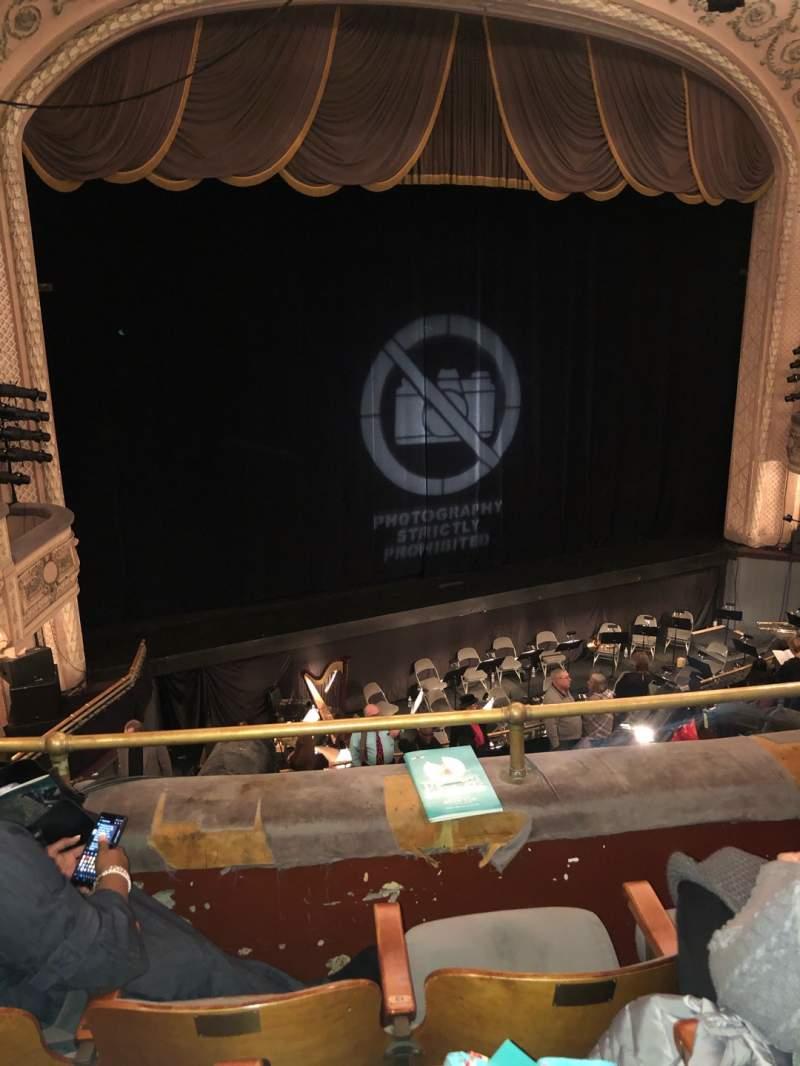 Vista sentada para Merriam Theater Secção BL Fila C Lugar 17