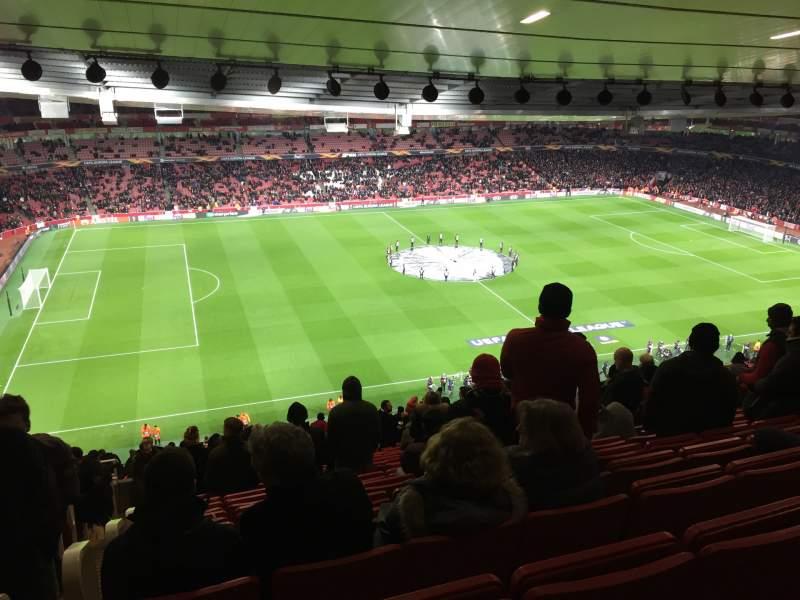 Vista sentada para Emirates Stadium Secção Block 93 Fila 73