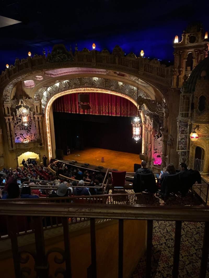 Vista sentada para Coronado Theatre Secção Ub Fila 1 Lugar 4
