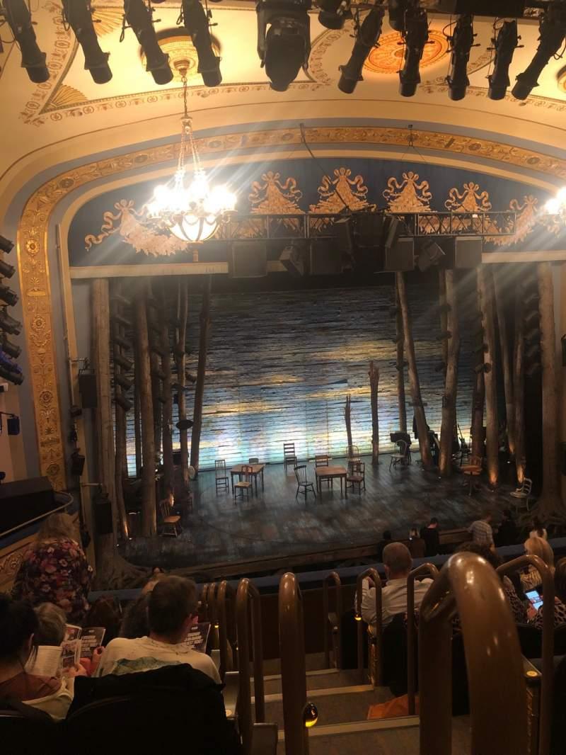 Vista sentada para Gerald Schoenfeld Theatre Secção Mezzanine L Fila G Lugar 1