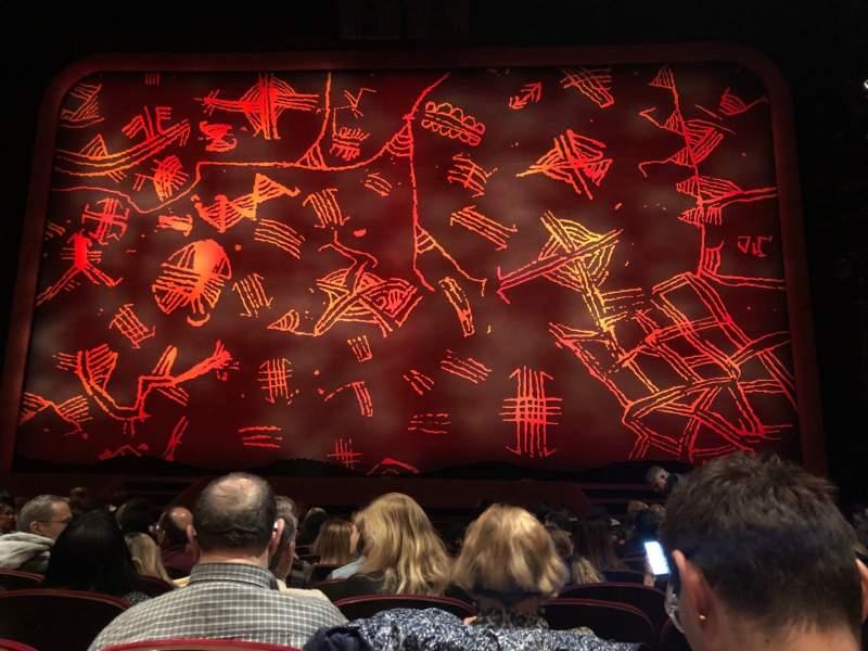 Vista sentada para Minskoff Theatre Secção Orchestra C Fila L Lugar 117
