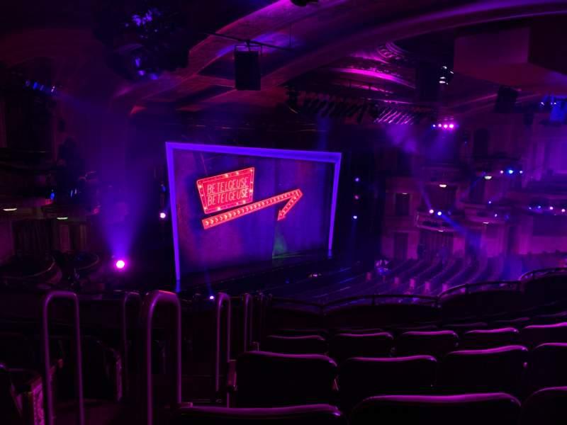 Vista sentada para Winter Garden Theatre Secção Mezzanine LC Fila G Lugar 138
