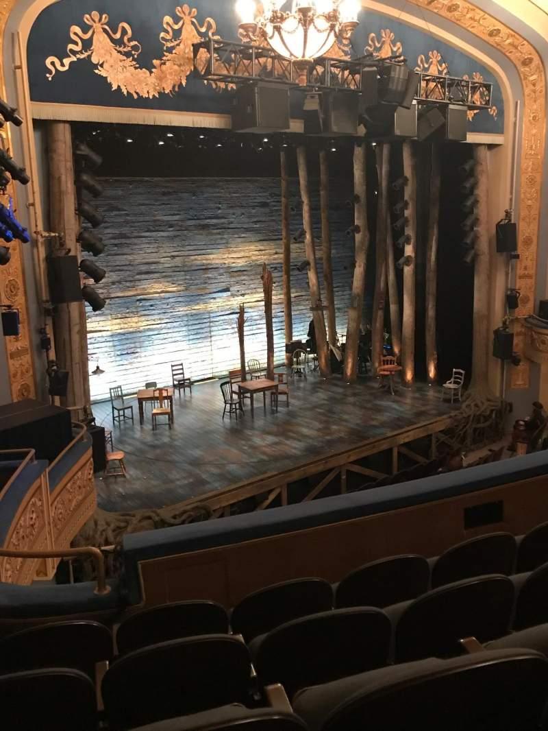 Vista sentada para Gerald Schoenfeld Theatre Secção Mezzanine L Fila E Lugar 23